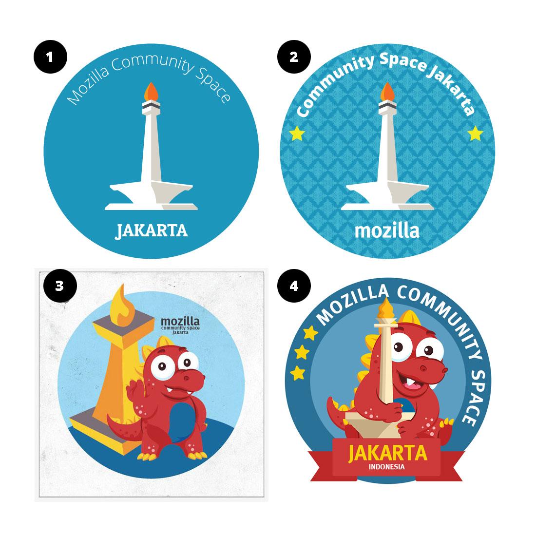 Vote Logo/Sticker for Mozilla Community Space Jakarta