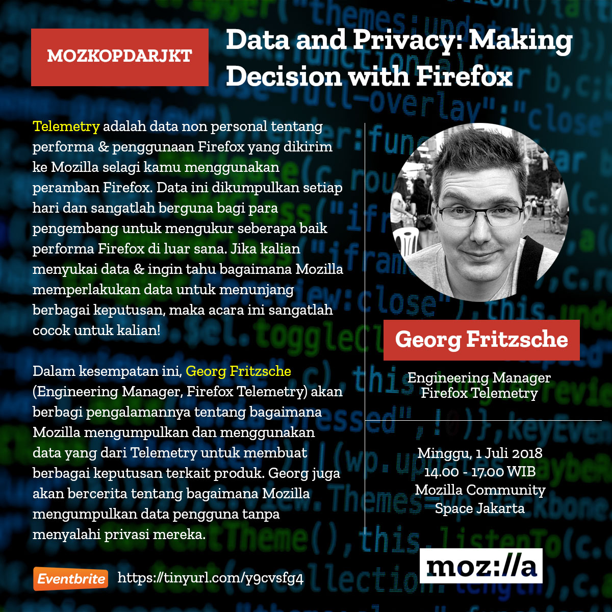 MozKopdarJKT, Data and Privacy: Making Decision with Firefox