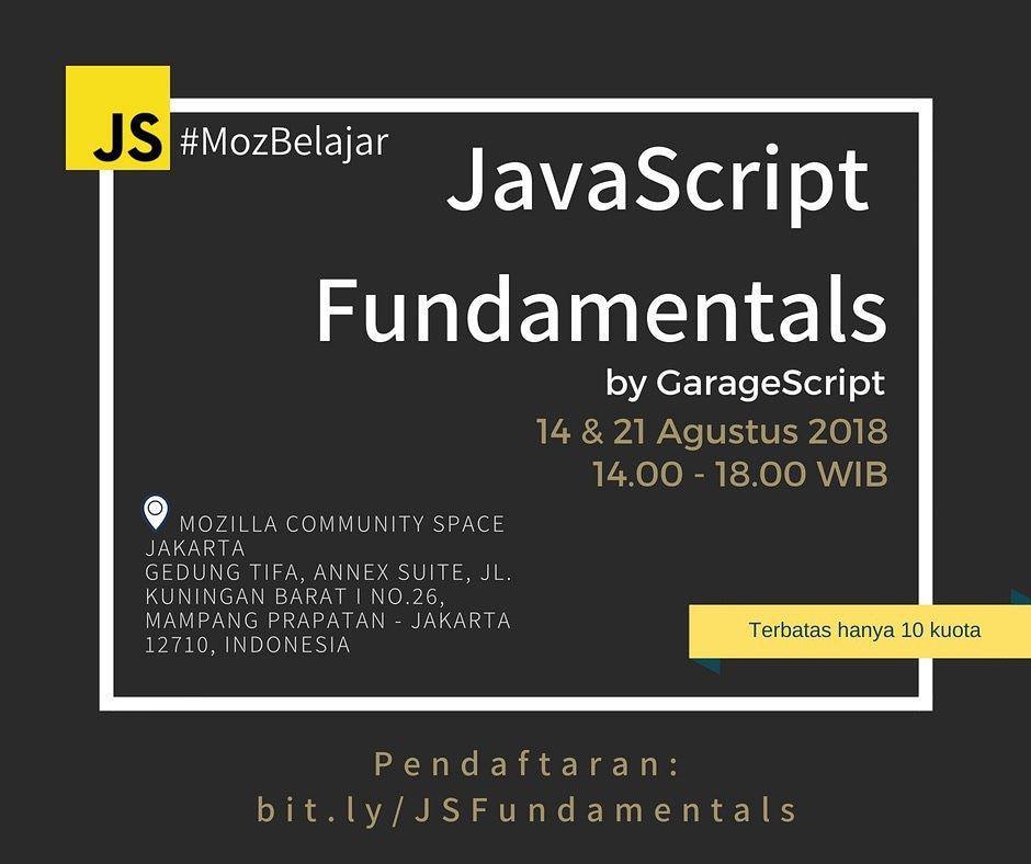 MozBelajar : JavaScript Fundamentals